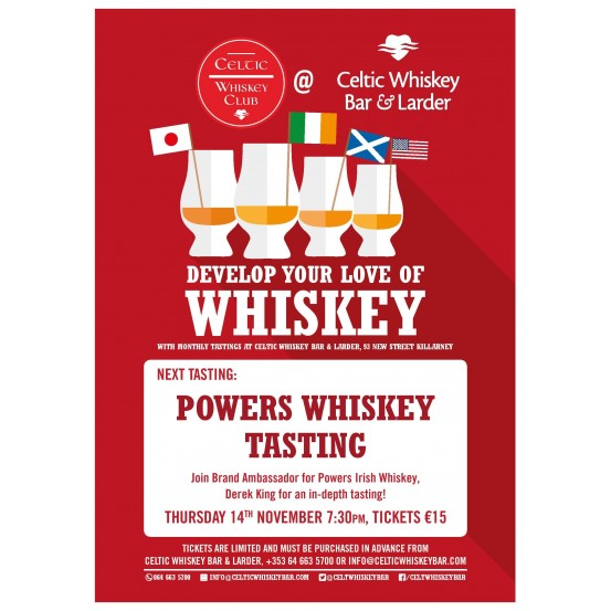 Powers Whiskey Tasting