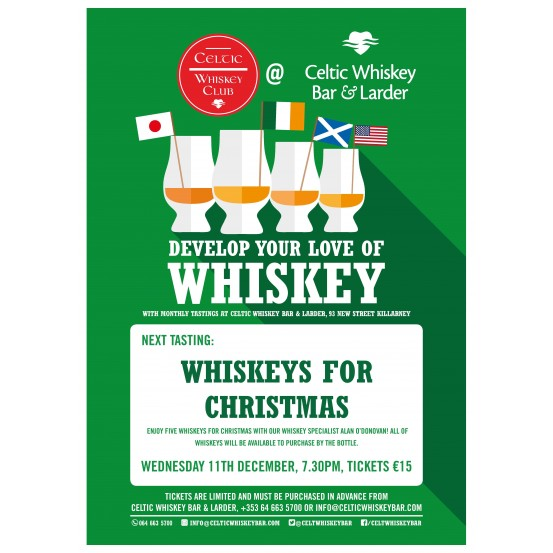 Whiskeys for Christmas Tasting