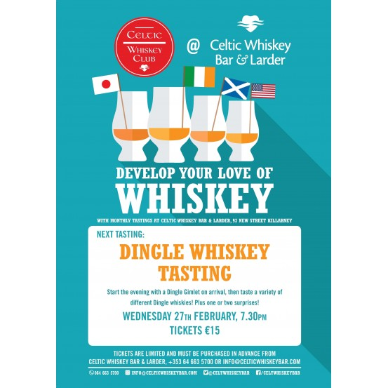 Dingle Whiskey Tasting