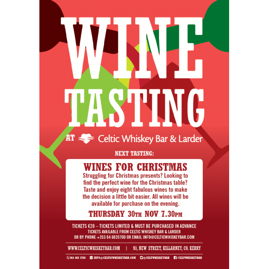 Wines for Christmas Tasting